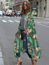 Casual Halter Long Sleeve Print Outerwear