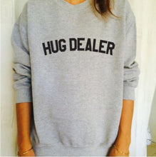 Casual V Neck Letter Printed Colour Sweatshirts