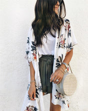 Summer Fashion Print Short Sleeve Top Cardigan