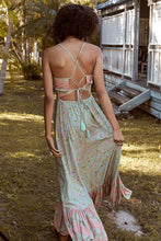 Boho Floral Strap Backless Beach Dress