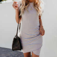 Like Pure Color Asymmetrical Mini Dress