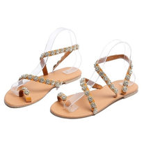 Bohemian Holiday Shiny Summer Flat Sandals