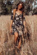 Bohemian Holiday Magpie Retro Slim Half Sleeve Mini Dresses