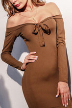Women  Off Shoulder Bodycon Casual Long Sleeve Mermaid Dresses