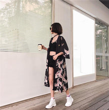 Kimono Long Cardigan outerwear thin sun protection Cover up