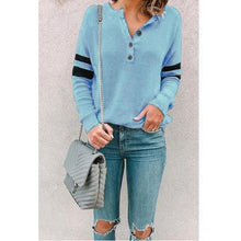 Fashion Round Neck Long Sleeve Button Shirts