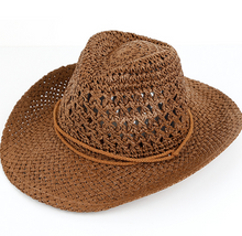 Hollow woven straw hat sunshade big hat