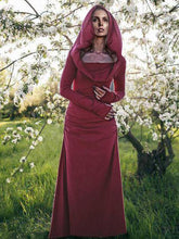 Dovechic Hooded Backless Long Sleeved  Maxi Forest Dress