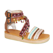 Wind Wave Sago Color Matching Beaded Sandals