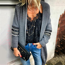 Fashion Hanging Collar Long Sleeve Sweater Cardigan