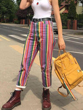 Fashion Color Striped Trousers
