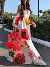 Dovechic Floral Off Shoulder Maxi Dress