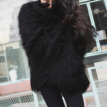 Fashion Wild Faux Fur Loose Overcoat