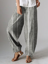 Cotton-Blend Plain Pants