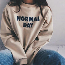 Casual Solid Color Letter Sweater