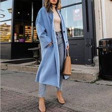 Fashion Solid Color Long Sleeve Coat