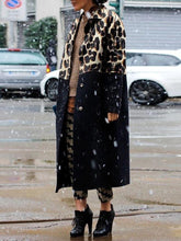 Fashion Stitching Leopard Coat