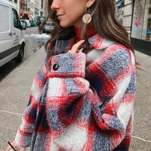 Women's Fashion Plaid Coat