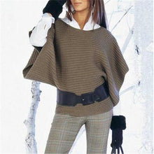 Loose round neck sleeves knit top