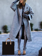 Classic Oversize Long Sleeves Gray Long Sleeves Coat