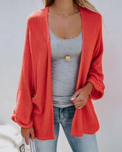Pure Color Bat-Wing Sleeve Knitted Cardigan