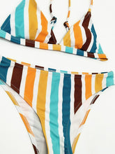 Dovechic Sexy Striped Tight Bikinis Swimwear