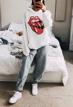 Women's Casual Round Neck Long Sleeve Printed Color Sweatershirt