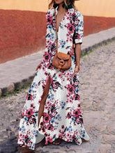 Dovechic Floral Bohemia Shirt Maxi Dress