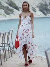Dovechic Vacation Strapless Printed Maxi Dress