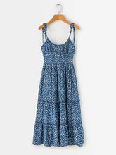 Dovechic Vacation Loose Spaghetti-neck Maxi Dress
