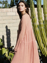Dovechic Bohemia Solid Long Sleeve Maxi Dress