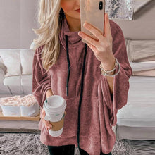 Casual Pure Color High-Neck Long-Sleeved Sweatshirt