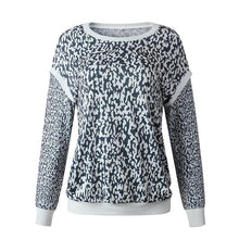 Women's Casual Animal Printed Round Neck Long Sleeve Sweater