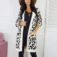 Women's Individuality Leopard Print Cardigan Coat