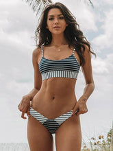 Dovechic Striped Printed  With Panty Bikini Set