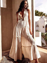 Dovechic Split-joint Sleeveless Maxi Dress
