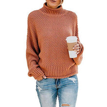 Fashion Casual High Collar Pullover Large Size Sweater