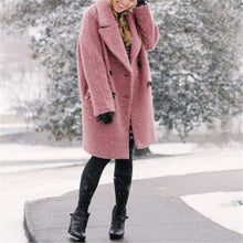 Elegant Pure Color Lapel Overcoat