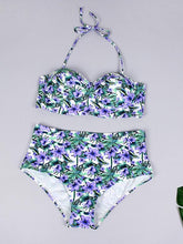 Dovechic Floral High Waisted Bikini Set