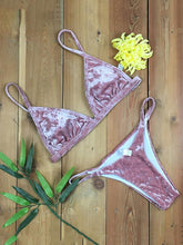Dovechic Ribbed Triangle Top With Panty Bikini Set