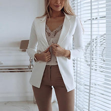 Casual Pure Colour Long Sleeve Blazer