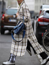 Women's Plaid Split Casual Coat