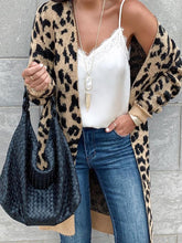 Women's FashionLong Sleeve Leopard Print Midi Cardigan