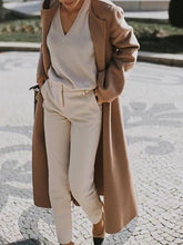 Casual Pure Colour Long Sleeve Loose Overcoat