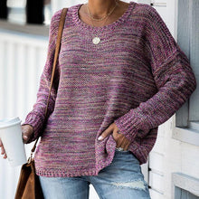 Round Neck Color Sweater