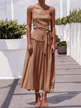 Dovechic Vacation Fashion Collect waist Maxi Dresses