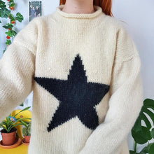 Casual Star Round Neck Sweater