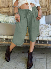 Plus Size Pockets Solid Casual Pants