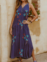 Sleeveless Floral V Neck Casual Dresses