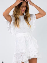 Bohemia White Mini Tie Dresses